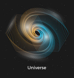 universe linear concept vector image vector image