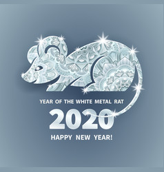 2020 year rat vector
