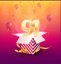 91st years anniversary design element vector