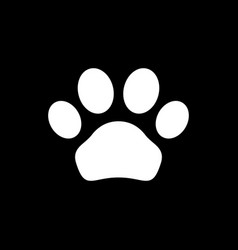 Animal paw icon and pet concept vector