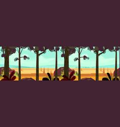 autumn landscape panorama vector image