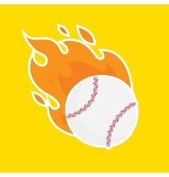 Baseball isolated team icon vector