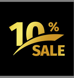 Black banner discount purchase 10 percent sale vector