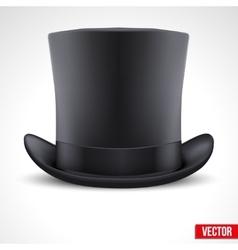 black gentleman hat cylinder background vector image