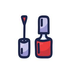 cartoon bottle nail polish hand-drawn isolated vector image