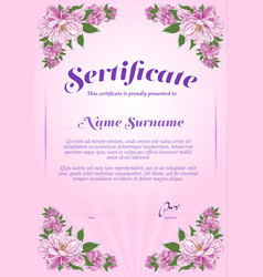 certificate template and diploma in the style of vector image