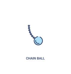 Chain ball concept 2 colored icon simple line vector