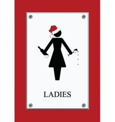 Chirstmas restroom sign vector