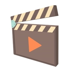 Clapboard icon cartoon style vector image