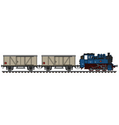 Classic freight steam train vector