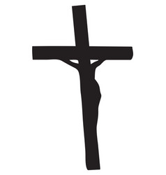 crucifixion christ vector image