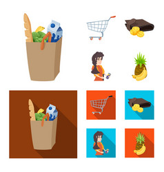 Design of food and drink icon collection vector