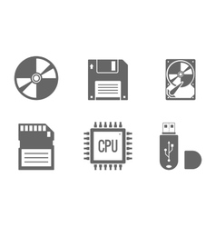 Digital Data Icons Set vector