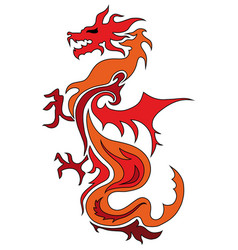 Dragon china zodiac symbols tattoo dragon vector