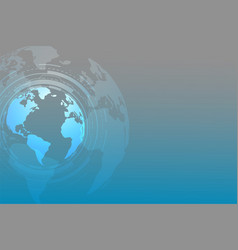global technology background with text space vector image
