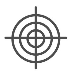 goal line icon aim isolated vector image