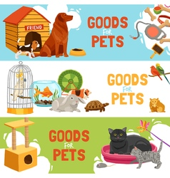 Goods For Pets Horizontal Banners vector image