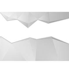 Grey tech abstract polygonal background vector