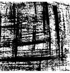 grunge background black and white brush vector image