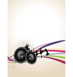 Grunge speaker music art vector image