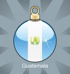Guatemala flag on bulb vector