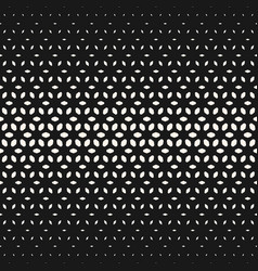 Halftone floral texture seamless geometric pattern vector