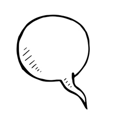 Hand drawn bubble speech doodle isolated vector