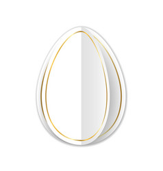 happy easter 3d card turn page egg gold vector image