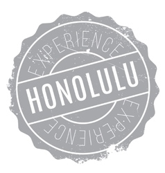 Honolulu stamp rubber grunge vector