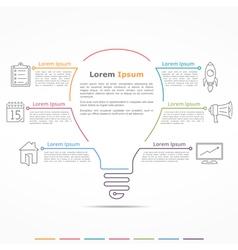 Idea Concept Infographics vector