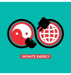 Infinite Energy concept vector