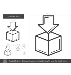 Letterbox line icon vector image vector image