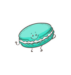 macaron cartoon character vector image
