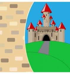medieval cartoon castle vector image