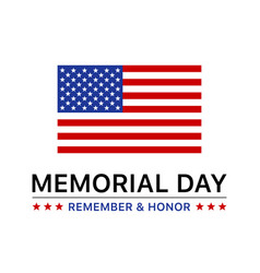 Memorial day display poster banner vector
