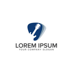 modern music logo - guitar clef symbol logo vector image
