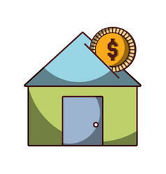 money investment house business icon isolated vector image