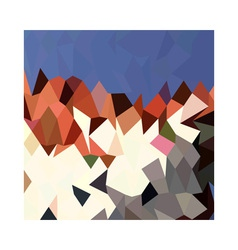 Mountain Sky Abstract Low Polygon Background vector