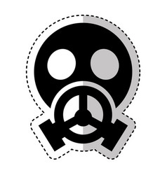 Nuclear safety mask icon vector