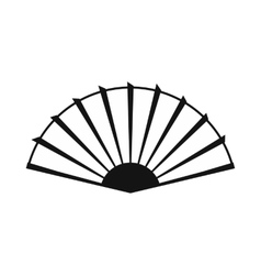 Open hand fan icon simple style vector image