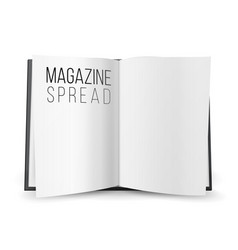 open magazine spread blank double-page vector image