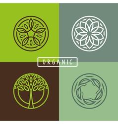 Organic round emblem vector