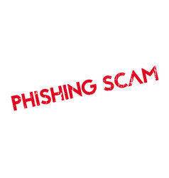 phishing scam rubber stamp vector image