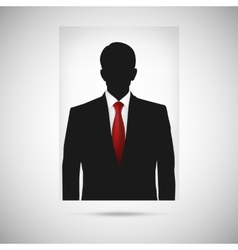 Profile picture whit red tie unknown person vector