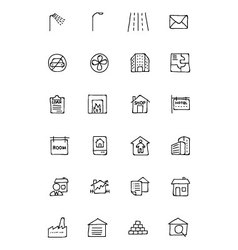 Real Estate Hand Drawn Doodle Icons 6 vector image