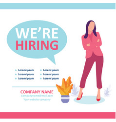 Recruitment recruiter choosing candidates with cv vector