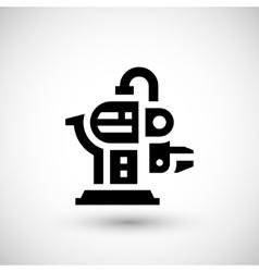 Robotic machine part icon vector