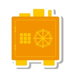safe money box isolated icon vector image