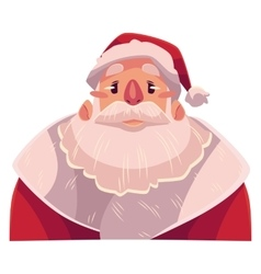 Santa Claus face upset confused facial vector