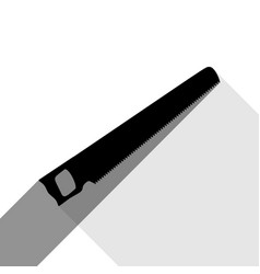 saw simple sign black icon with two flat vector image
